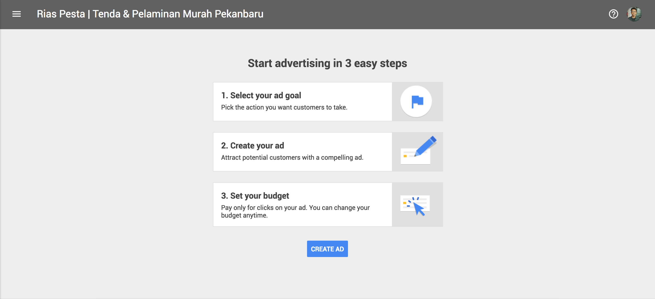 Cara Mendaftar Google Adwords Express via Googe My Business