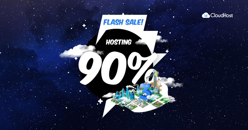 Promo Ulang Tahun IDCloudhost - Flash Sale Dikson 90% Hosting