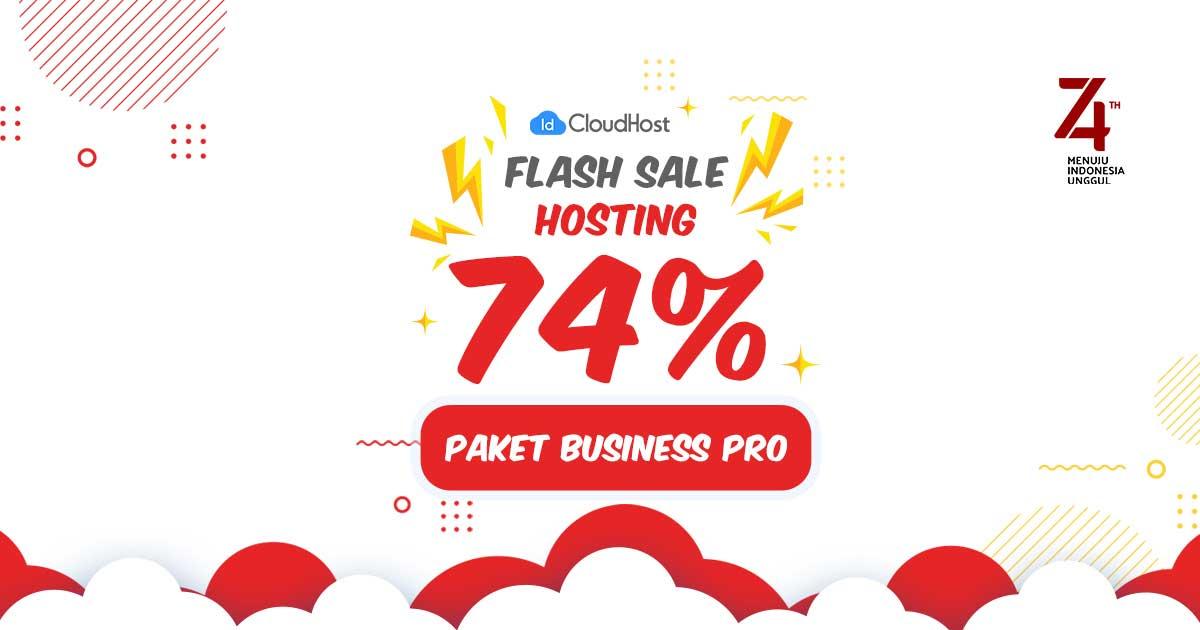 Promo Kemerdekaan IDCloudhost - Flash Sale Dikson 74% Hosting