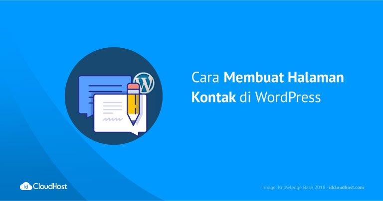 Cara Membuat Halaman Kontak di WordPress