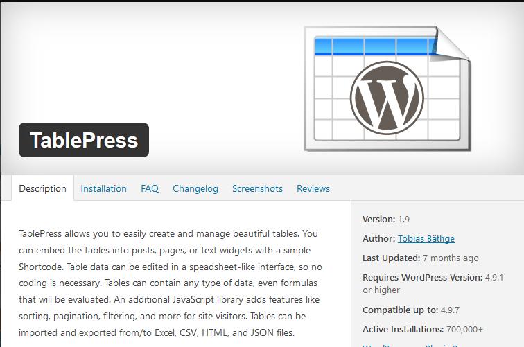 Cara Membuat Tabel Dengan Menggunakan Plugin Tablepress Pada WordPress
