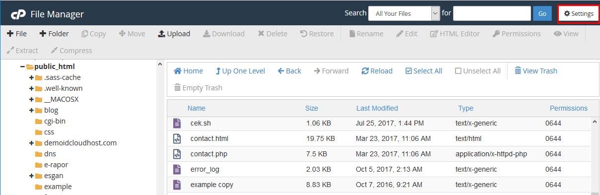 Cara Memunculkan File Hidden di File Manager Cpanel