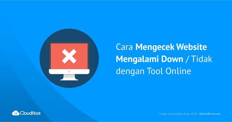 Cara Mengecek Website Mengalami Down / Tidak dengan Tool Online
