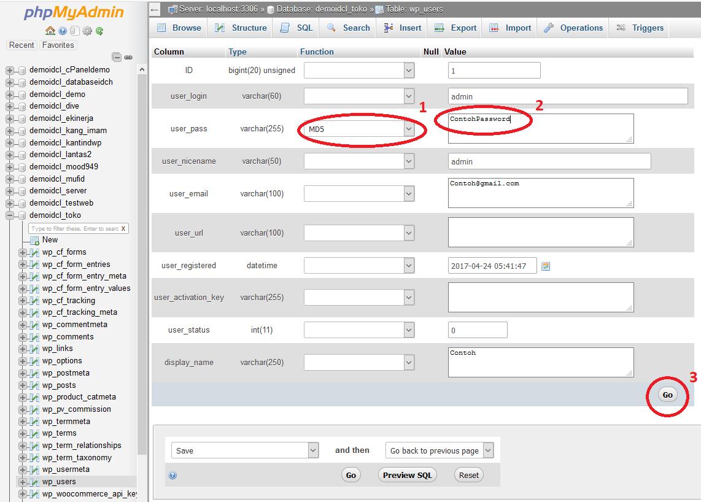 Cara Mengganti Password WordPress dari Database