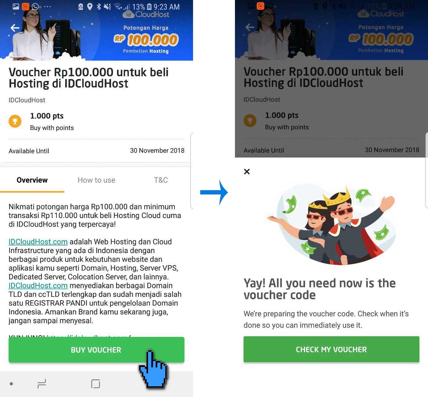 Cara Menggunakan Promo GO-POINTS di IDCloudHost