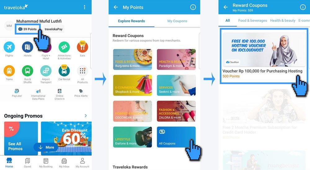 Cara Menggunakan Promo TRAVELOKA-POINTS di IDCloudHost | IDCloudHost