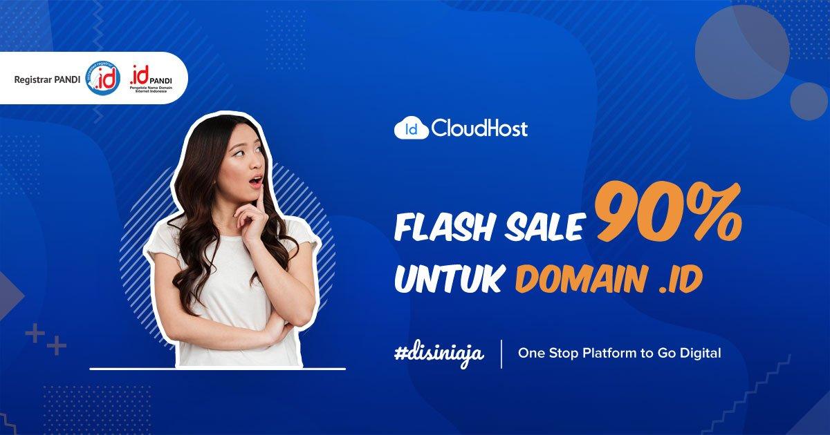 Promo Bulan Desember 2018 - Flash Sale Domain ID - Diskon 90% IDCloudHost