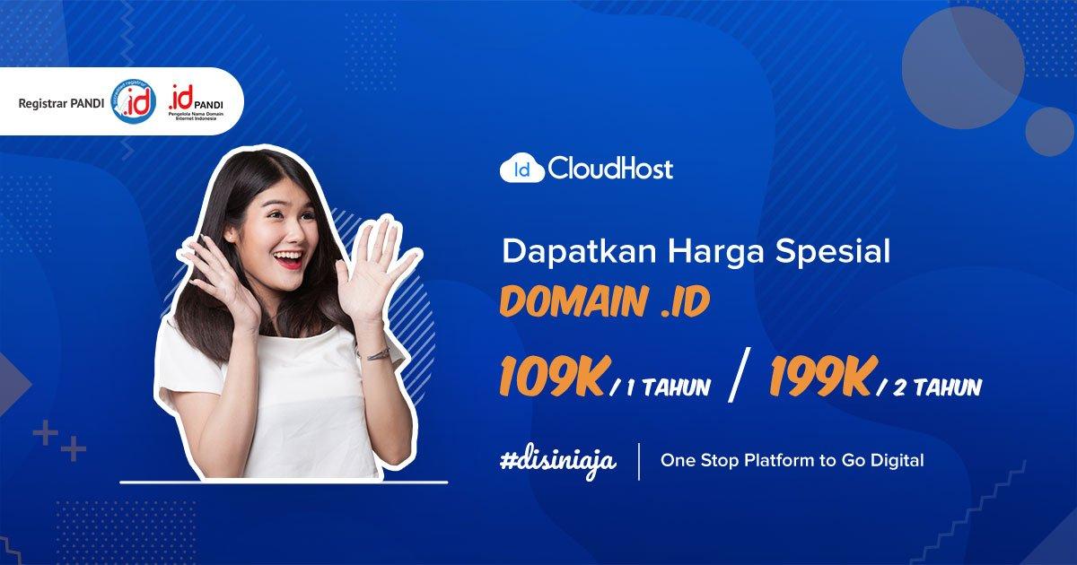 Promo Domain ID Murah Indonesia - IDCloudhost