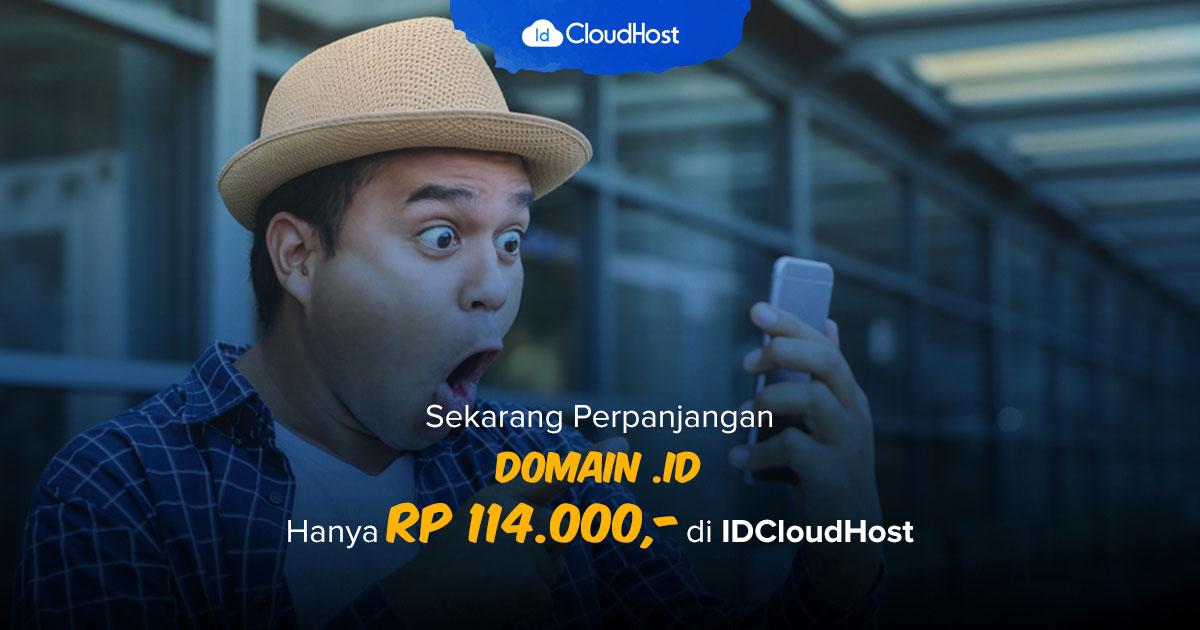 Promo Perpanjangan Domain ID Murah Indonesia - IDCloudhost