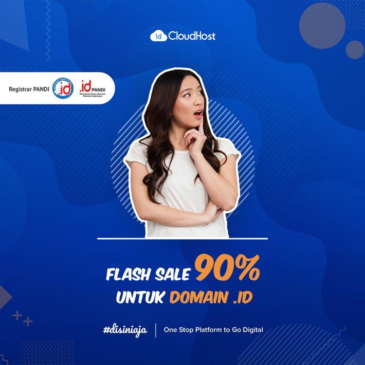 Promo Flash Sale Domain ID - Jadi Beda Karena Domain Indonesia | IDCloudhost