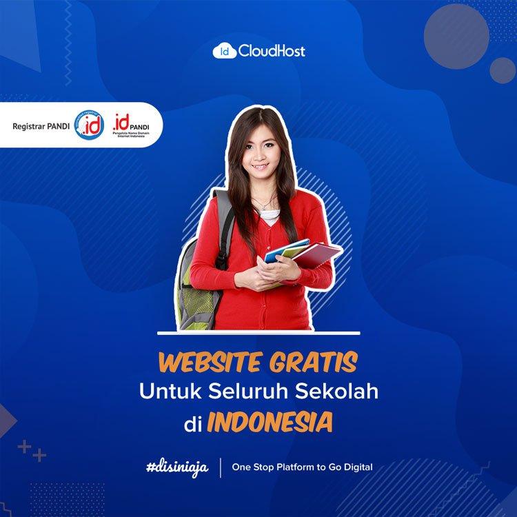 Promo Domain SCH.ID Website Gratis untuk Sekolah - Jadi Beda Karena Domain Indonesia | IDCloudhost