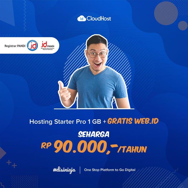 Promo Domain WEB.ID dan Hosting - Jadi Beda Karena Domain Indonesia | IDCloudhost