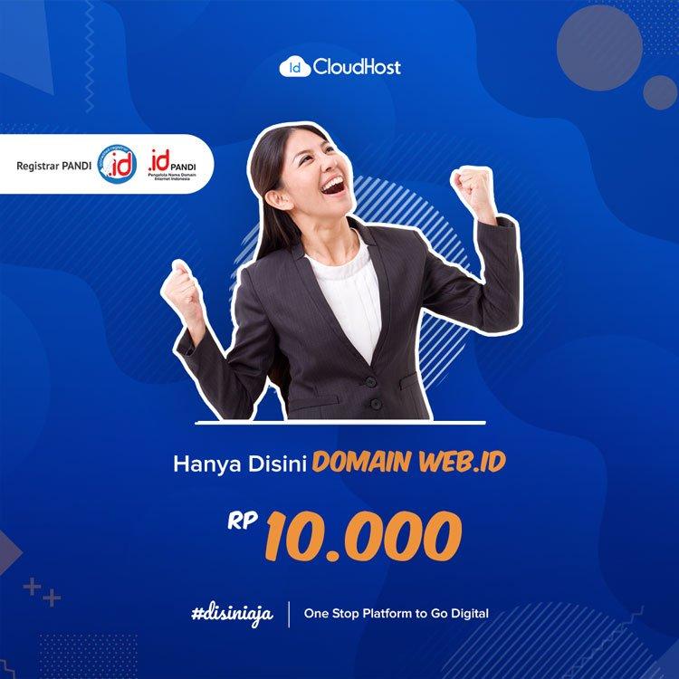 Promo Domain WEB ID - Jadi Beda Karena Domain Indonesia | IDCloudhost