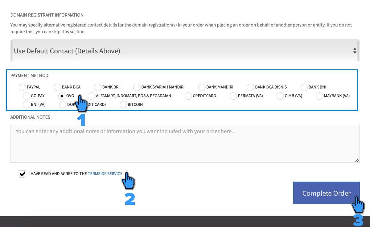 Pembayaran Layanan IDCloudHost via OVO