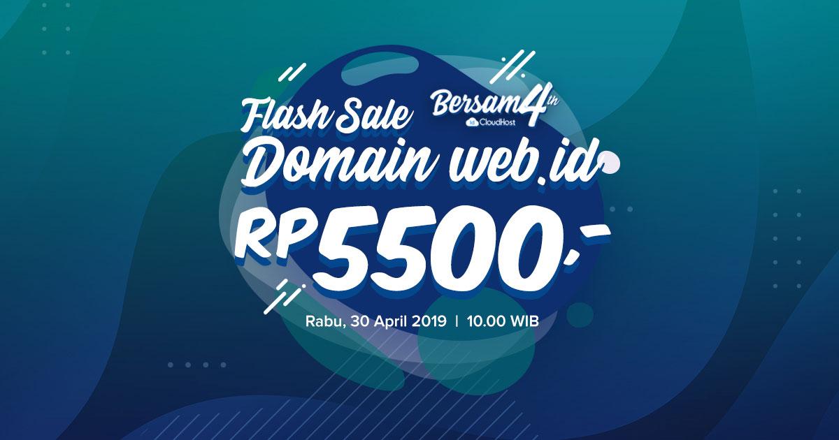 Flash Sale Domain WEB ID IDCloudHost - Ulang Tahun IDCloudhost ke 4