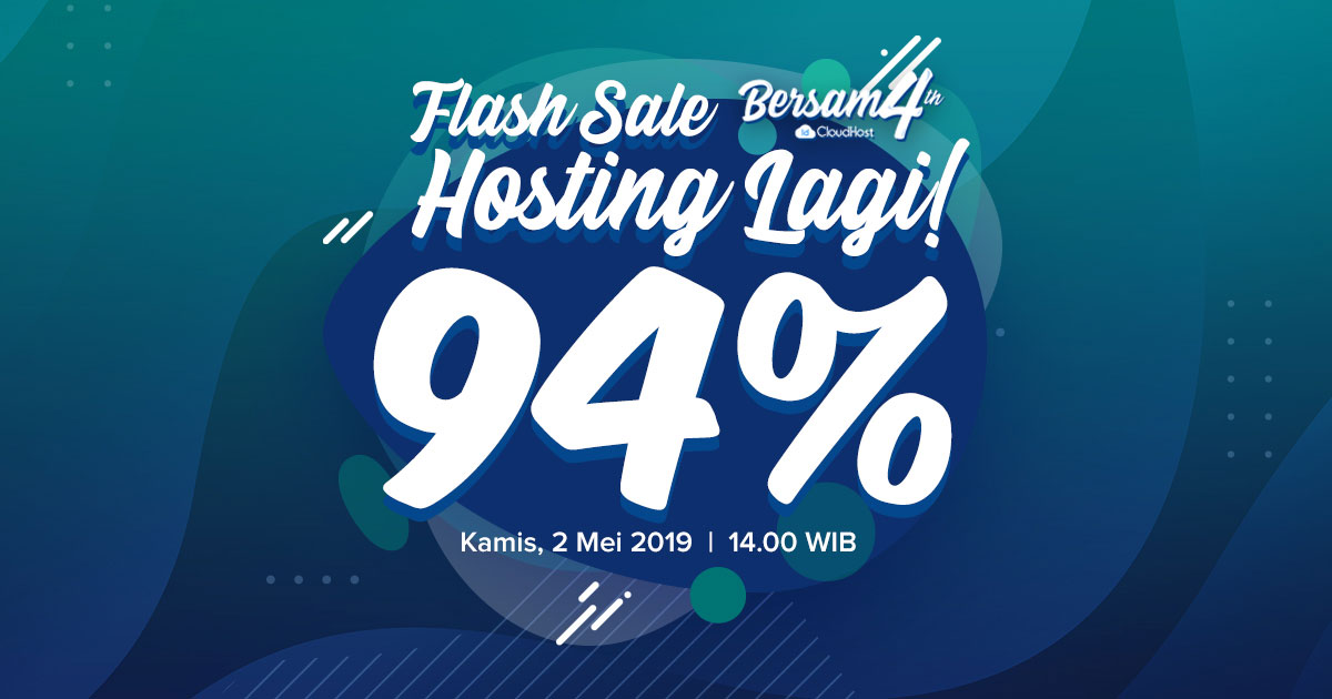Promo Ulang Tahun IDCloudhost - Flash Sale Diskon 94% Hosting