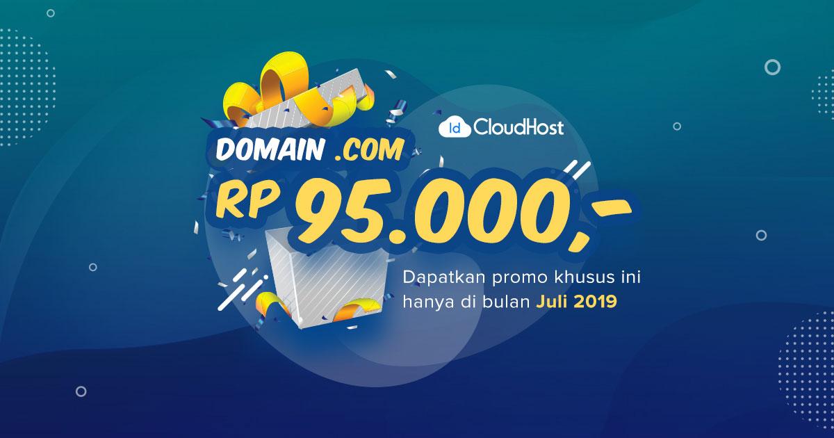 Promo Domain COM Termurah di Indonesia - IDCloudHost