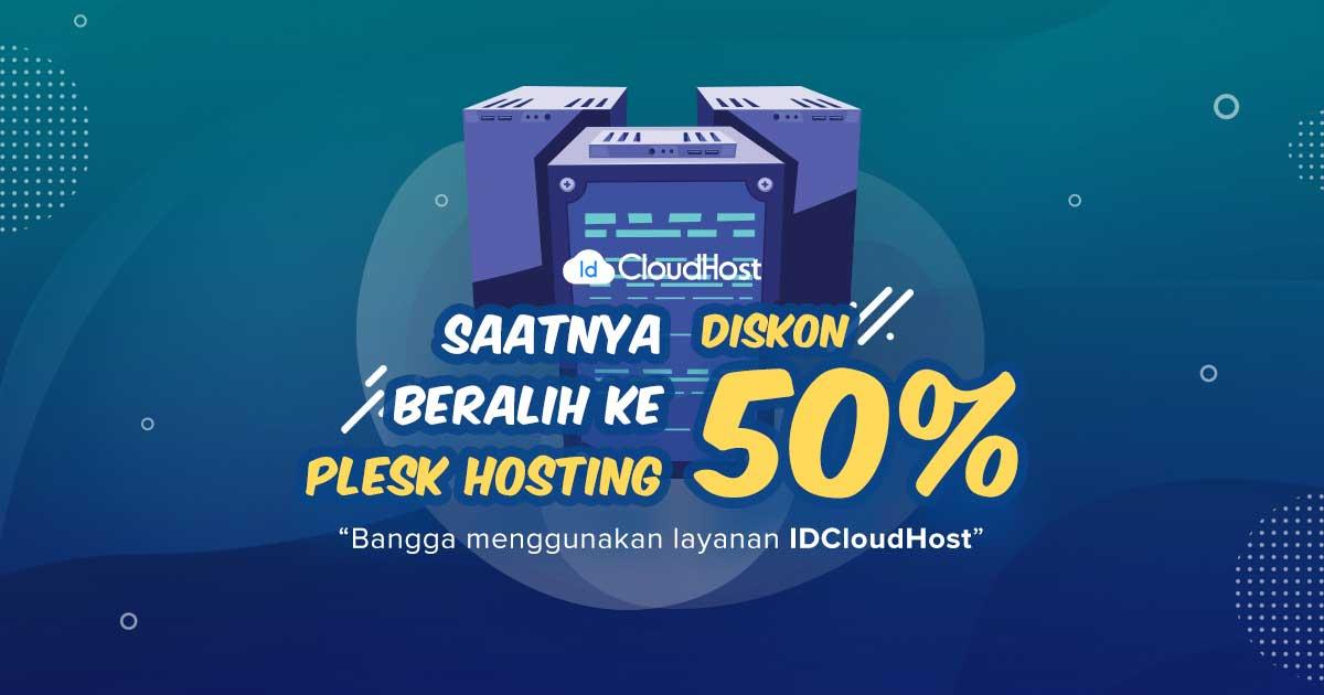 Promo Plesk Hosting (Diskon 50%)