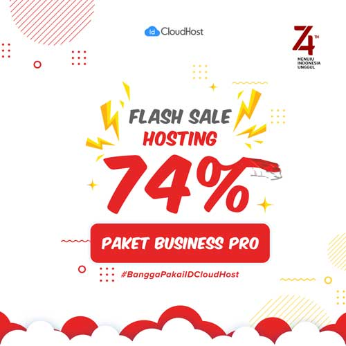 Promo Kemerdekaan Indonesia - Flash Sale dan Diskon Hosting up to 74% | IDCloudHost