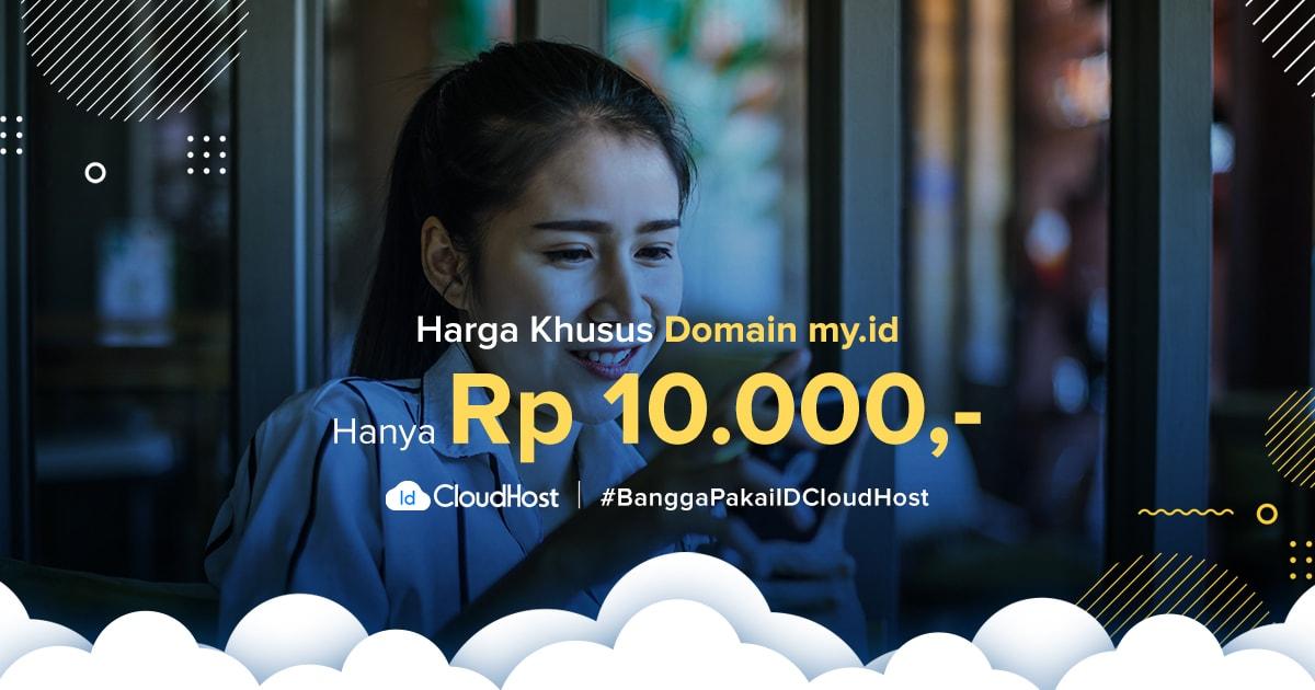 Promo Domain .MY.ID Indonesia seharga Rp 10.000 - IDCloudHost