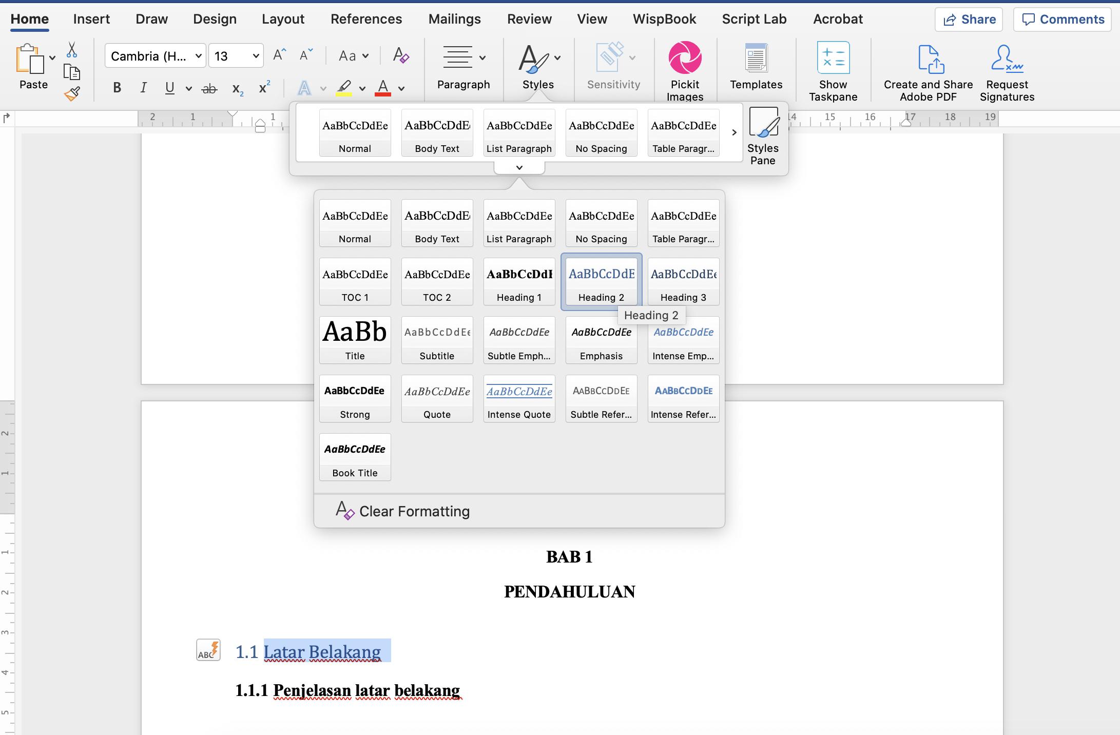 Cara Membuat Daftar Isi Secara Otomatis Pada Microsoft Word - Tutorial Untuk Guru Pemula