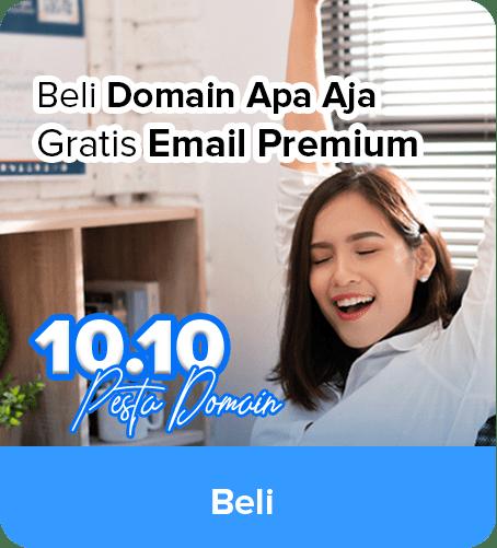 Promo Domain Gratis Email Premium