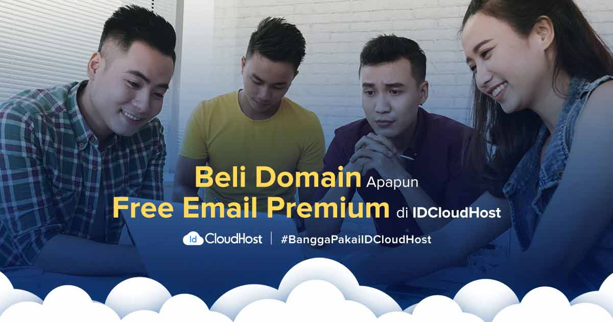 Promo Domain + GRATIS Email Premium - IDCloudHost