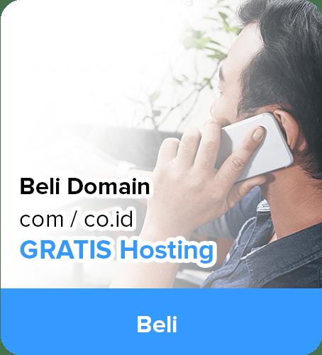 Promo Beli Domain COM dan CO.ID Dapat Hosting GRATIS