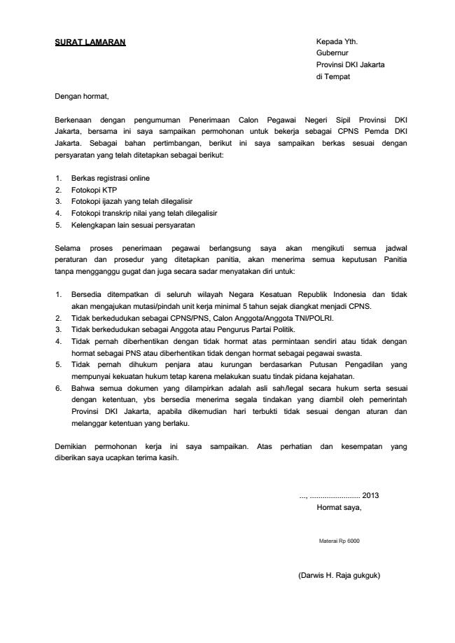 Tips Dan Trick Menulis Surat Lamaran Kerja Bonus Contoh Surat Lamaran Kerja Idcloudhost