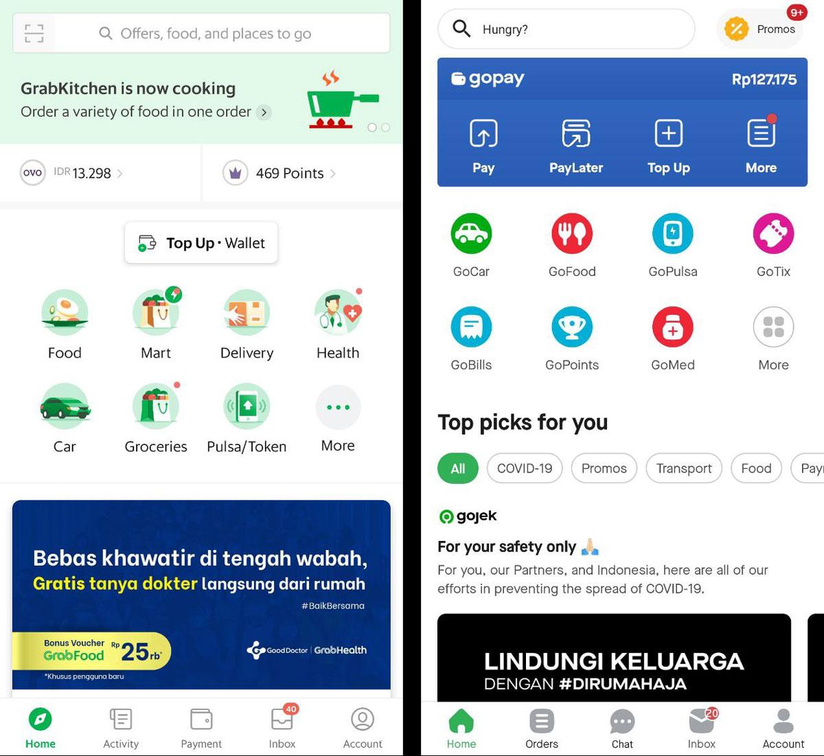 Fitur Goride Gojek Dan Grabbike Grab Hilang Dari Aplikasi Karena Aturan Psbb Idcloudhost