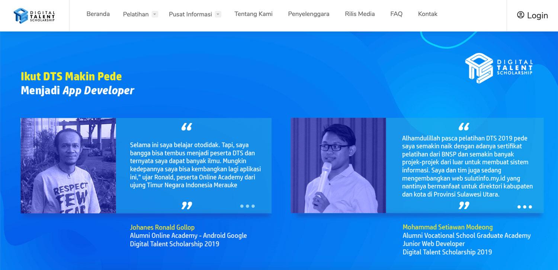 Digital Talent Scholarship Kominfo RI   IDCloudHost
