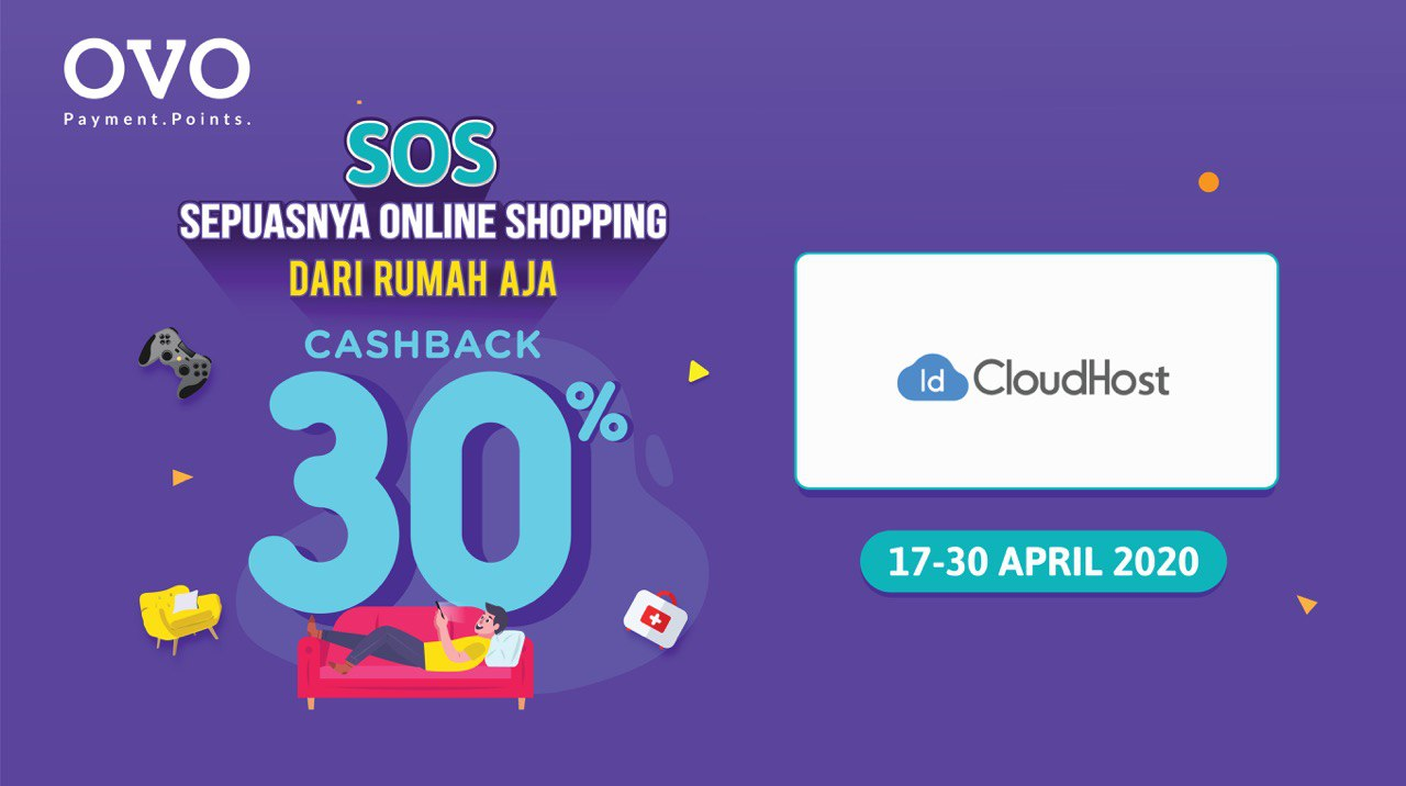 Promo OVO SOS April ( Shopping Online Sepuasnya) - Cashback 30%