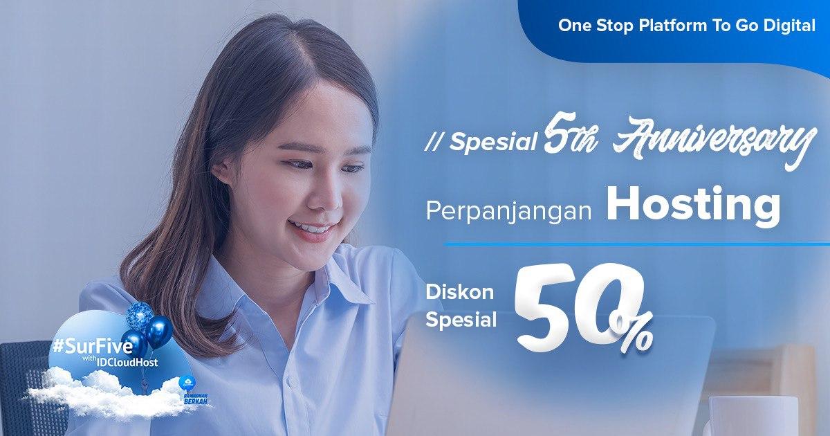Promo SurFive - Perpanjangan Hosting Diskon 50%