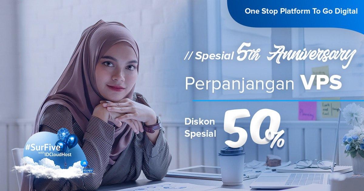 Promo SurrFive - Perpanjangan VPS Diskon 50%