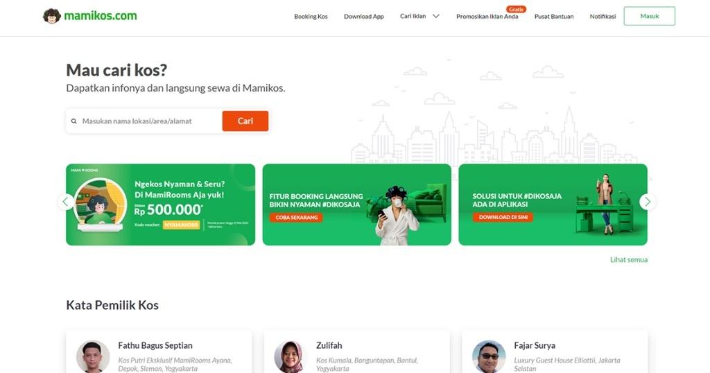 Mamikos : Aplikasi Pencarian Kost-Kostan & Apartemen Murah dan Cepat