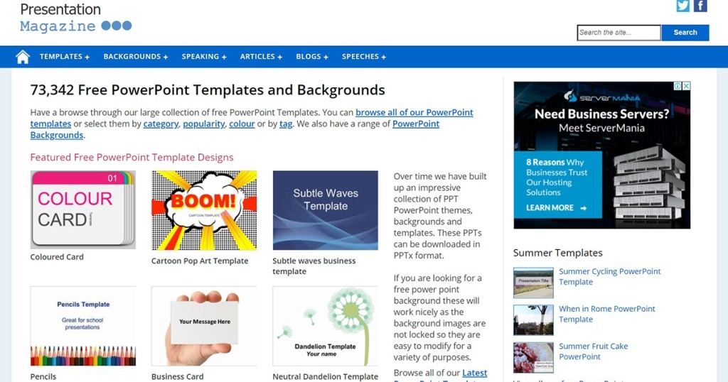 Website Download Template Presentasi (PPT) GRATIS dan Terbaik