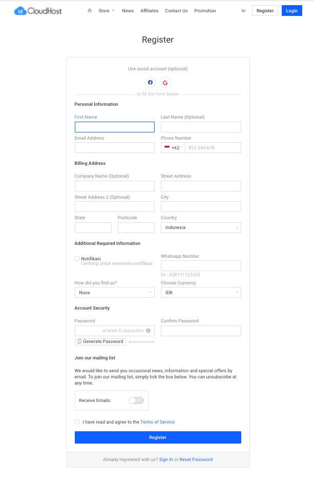 Cara Mendaftar Program Ekabima - Website Gratis untuk Sekolah | IDCloudhost