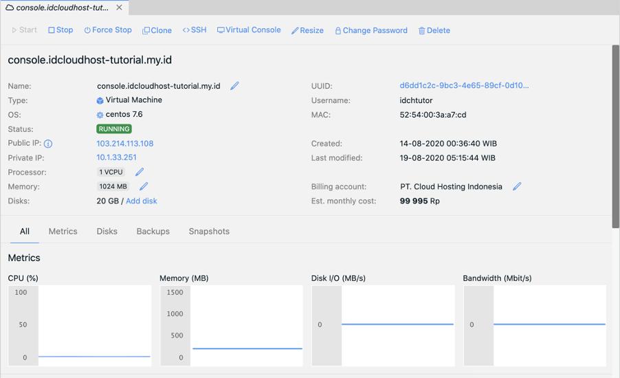 Cara Melakukan Management Start, Stop, Restart pada Server Private Cloud | IDCloudHost