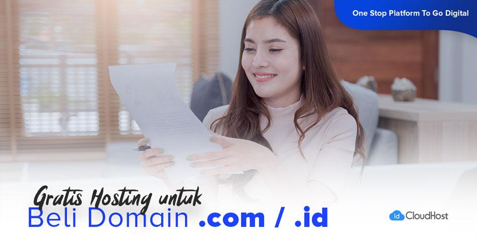 Promo Domain COM / ID – GRATIS Hosting
