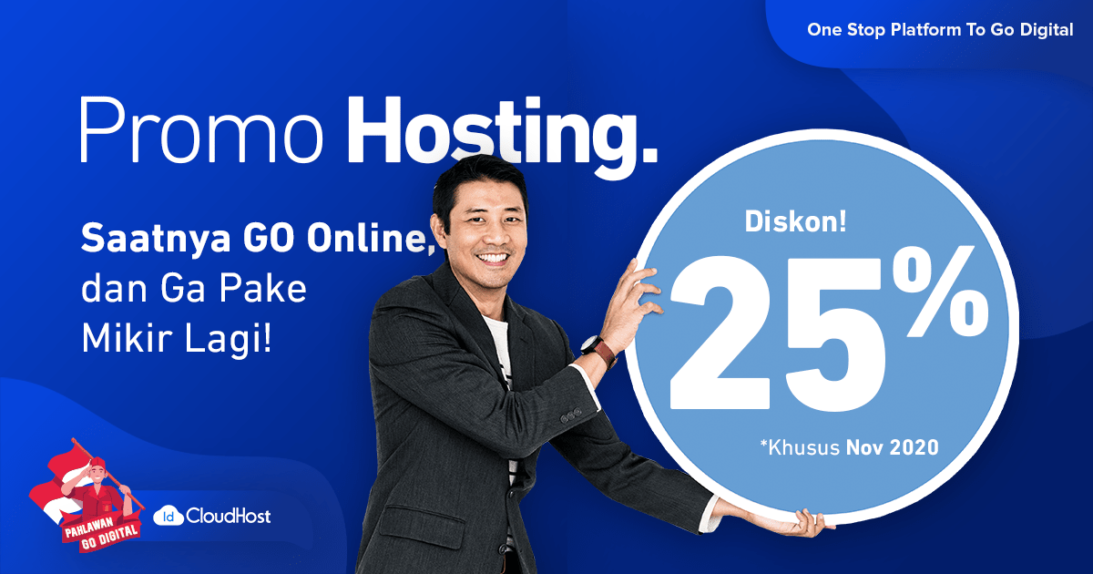 Promo Cloud Hosting 25% November 2020