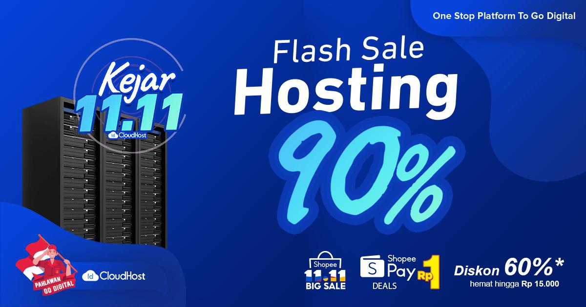 Promo 11.11 - Promo Flash Sale Hosting IDcloudhost