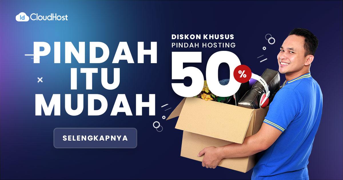 Promo Pindah Hosting 50