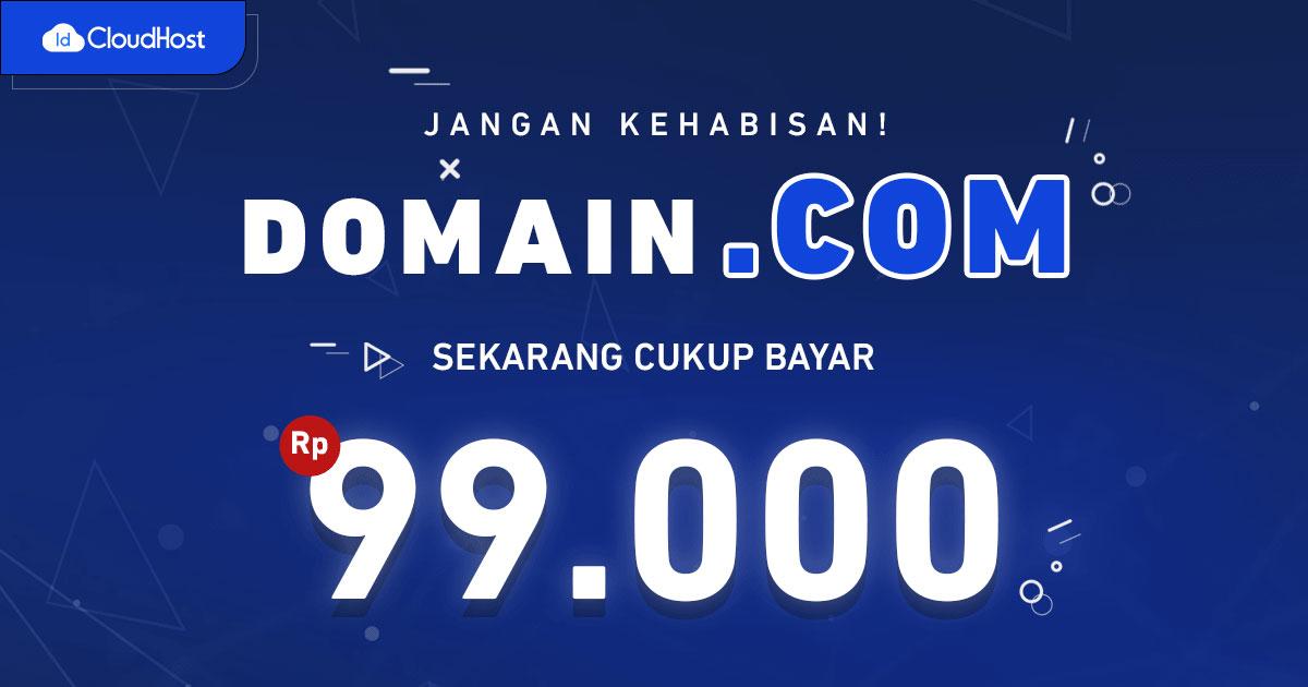 Promo Domain .COM Termurah - IDCloudHost
