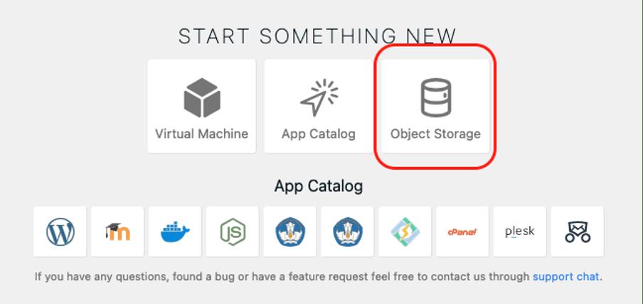 Membuat Bucket di Object Storage IDCloudHost