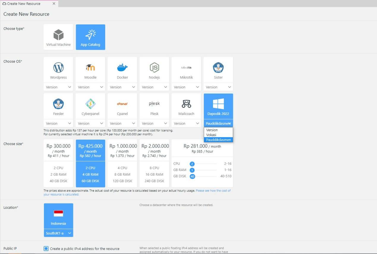 App Catalog Cloud VPS