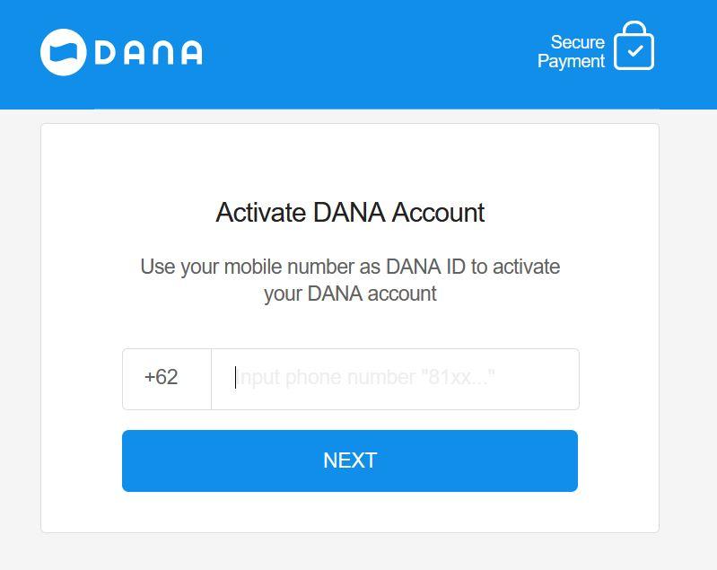 Pembayaran via Aplikasi DANA