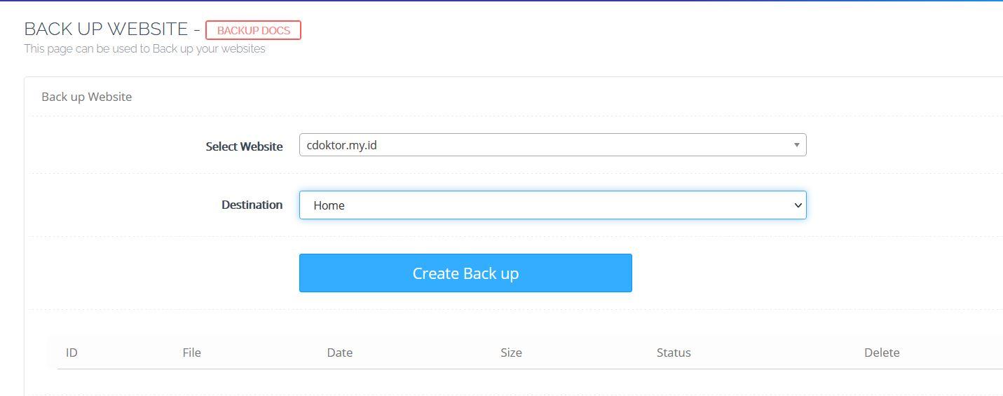 Backup CyberPanel