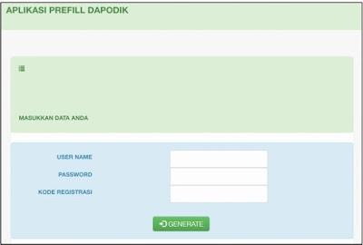 Registrasi DAPODIK
