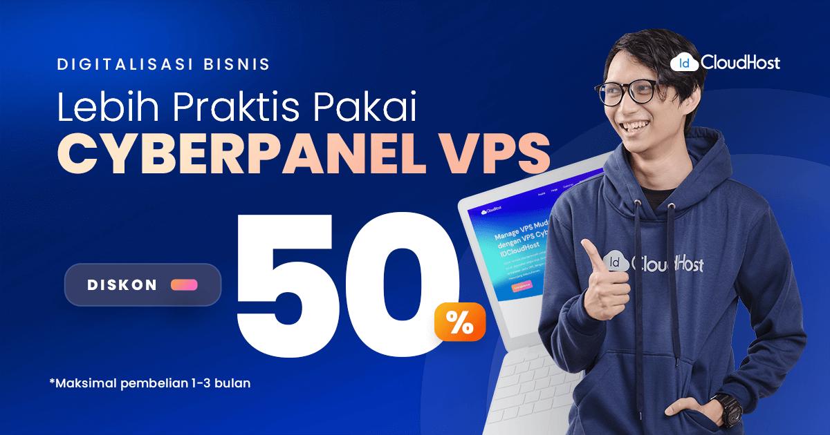 CyberPanel VPS Diskon 50% (Thumbnail)